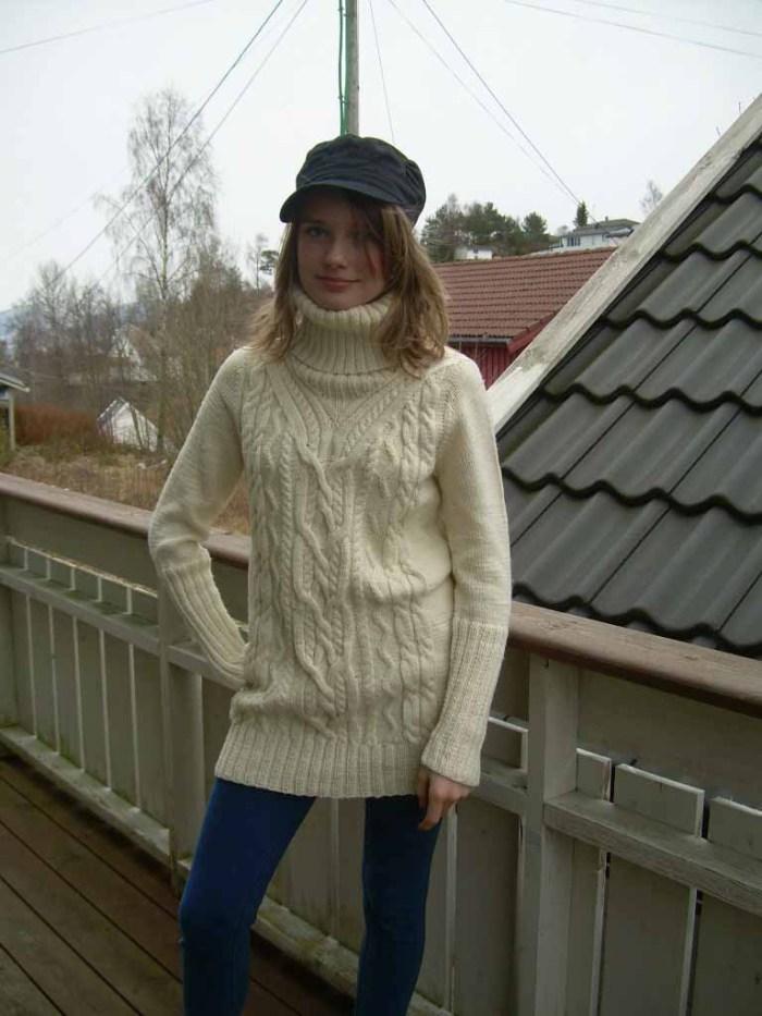 Flott Aran genser