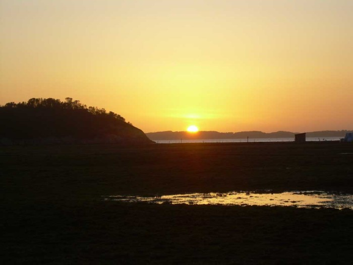 Solnedgang på Herdla