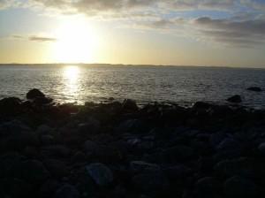 Sola over Herdlafjorden
